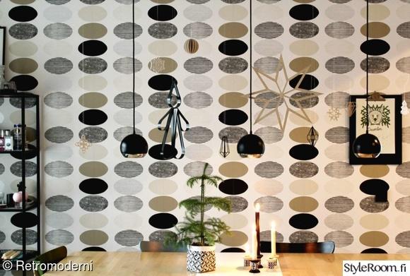 Bild på tapetti  Moderni joulu av Retromoderni